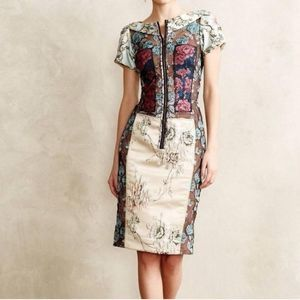 Beguile by Byron Lars Pieced Brocade Dress 0